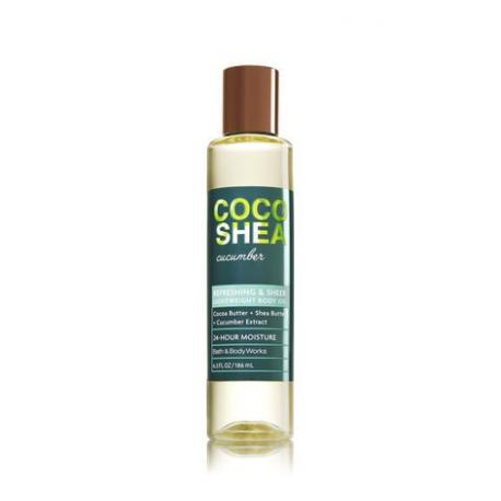 Huile pour le corps COCOSHEA CUCUMBER Bath and Body Works body oil US USA