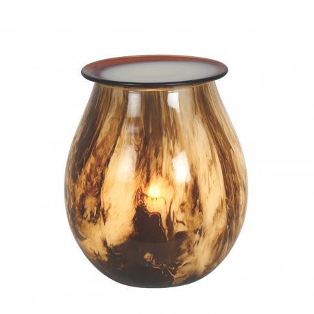 Brûleur de cire électrique ART GLASS BROWN CAVE