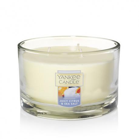 Bougie parfumée Tumbler 3 mèches JUICY CITRUS AND SEA SALT Yankee Candle exclu US USA