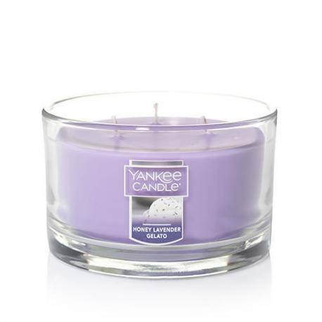 Bougie parfumée Tumbler 3 mèches HONEY LAVENDER GELATO Yankee Candle exclu US USA