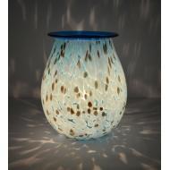 Brûleur de cire électrique ART GLASS BLUE