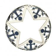 Illuma-Lid Into port chrome anchor and star Yankee Candle