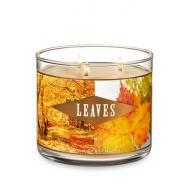 Bougie 3 mèches LEAVES Bath and Body Works