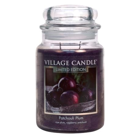 Grande Jarre 2 mèches PATCHOULI PLUM Village Candle