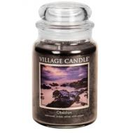 Grande Jarre 2 mèches OBSIDIAN Village Candle
