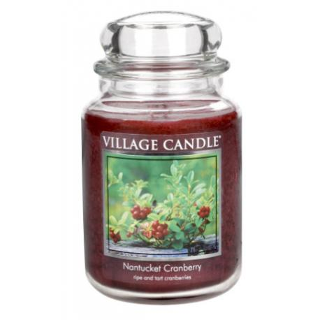 Grande Jarre 2 mèches NANTUCKET CRANBERRY Village Candle