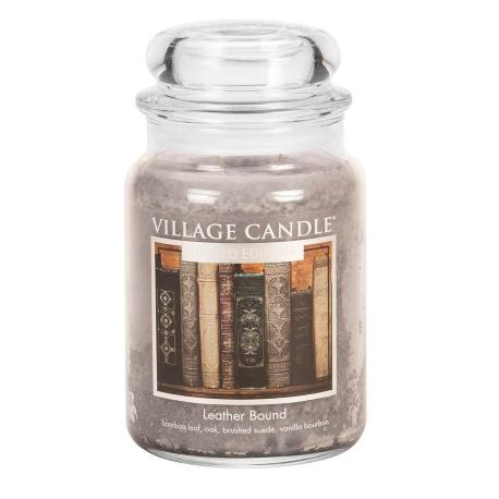 Grande Jarre 2 mèches LEATHER BOUND Village Candle