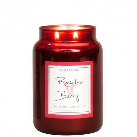 Grande Jarre 2 mèches ROSETTE BERRY Village Candle