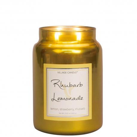 Grande Jarre 2 mèches RHUBARB LEMONADE Village Candle