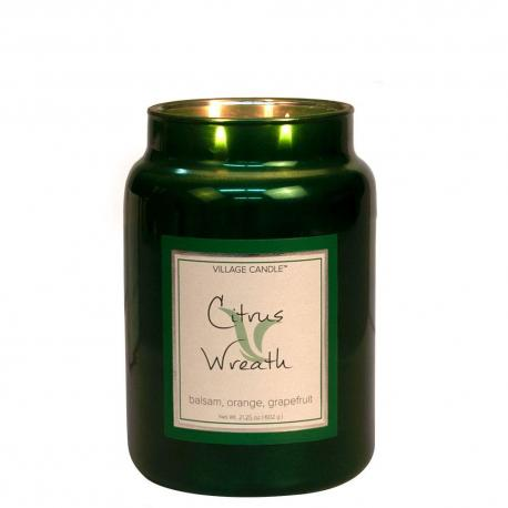 Grande Jarre 2 mèches CITRUS WREATH Village Candle