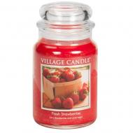 Grande Jarre 2 mèches FRESH STRAWBERRIES Village Candle