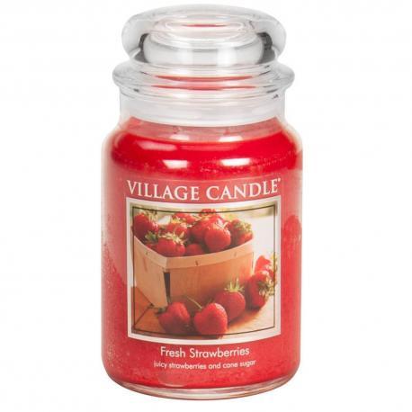 Grande Jarre 2 mèches FRESH STRAWBERRIES Village Candle