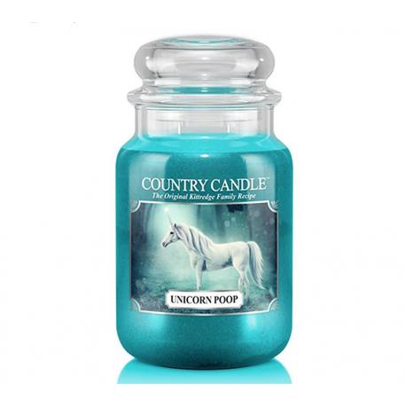 Grande Jarre 2 mèches UNICORN POOP Country Candle