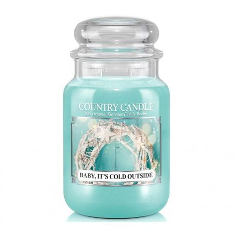 Grande Jarre 2 mèches BAYBY IT'S COLD OUTSIDE Country Candle