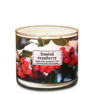 Bougie 3 mèches FROSTED CRANBERRY Bath and Body Works