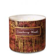 Bougie 3 mèches CRANBERRY WOODS Bath and Body Works
