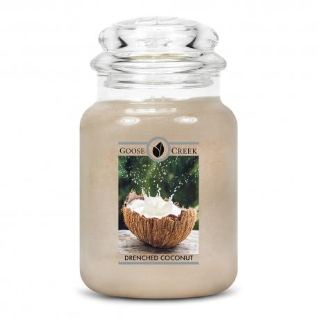 Grande Jarre 2 mèches DRENCHED COCONUT Goose Creek Candle