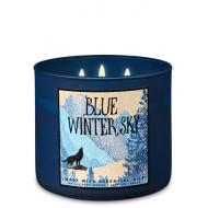 Bougie 3 mèches BLUE WINTER SKY Bath and Body Works