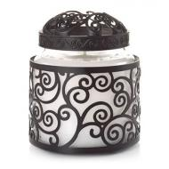 Ensemble BLACK SCROLL Holder + Illuma-Lid Yankee Candle