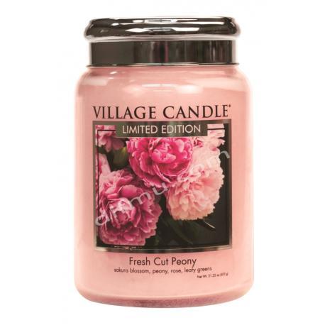 Grande Jarre 2 mèches FRESH CUT PEONY Village Candle