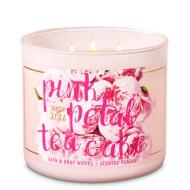 Bougie 3 mèches PINK PETAL TEA CAKE Bath and Body Works
