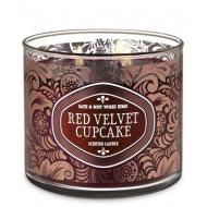Bougie 3 mèches RED VELVET CUPCAKE Bath and Body Works