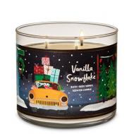 Bougie 3 mèches VANILLA SNOWFLAKE Bath and Body Works