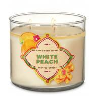 Bougie 3 mèches WHITE PEACH Bath and Body Works