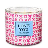 Bougie 3 mèches FLOWER SHOP Bath and Body Works I LOVE YOU DIFMU