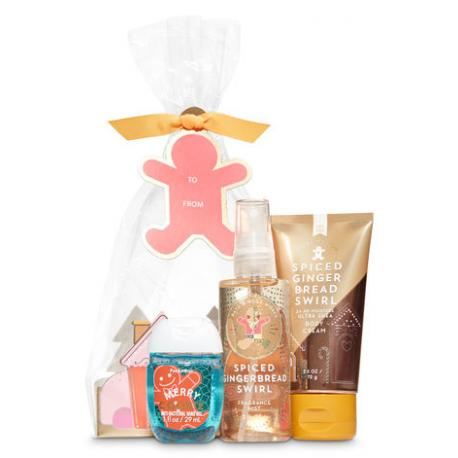 Gift Set SPICED GINGERBREAD SWIRL Bath and Body Works