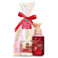 Gift Set bougie + savon WINTER CANDY APPLE Bath and Body Works