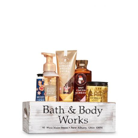 Gift Set CAISSE en bois HOLIDAY TREATS Bath and Body Works cadeau noël