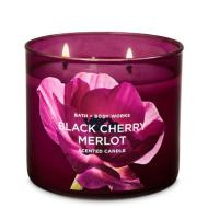 Bougie 3 mèches BLACK CHERRY MERLOT Bath and Body Works