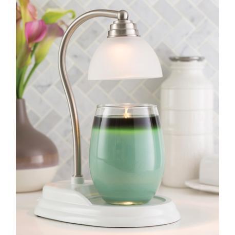 Lampe chauffante pour bougie AURORA BLANC ARGENT Difmu