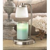Lampe chauffante pour bougie CONTEMPO ARGENT BROSSE Difmu