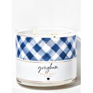 Bougie 3 mèches GINGHAM Bath and Body Works Difmu