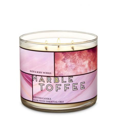 Bougie 3 mèches MARBLE TOFFEE Bath and Body Works