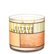 Bougie 3 mèches CITRUS CRYSTALS Bath and Body Works Difmu