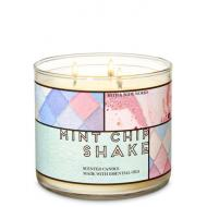 Bougie 3 mèches MINT CHIP SHAKE Bath and Body Works