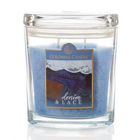 Moyenne jarre ovale DENIM AND LACE Colonial Candle  Difmu
