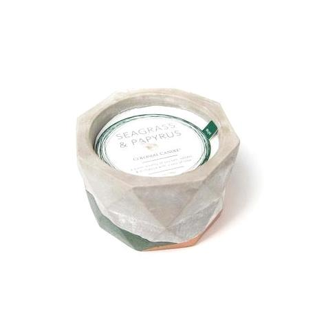 Jarre ciment SEAGRASS AND PAPYRUS Colonial Candle Difmu
