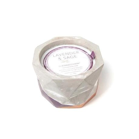 Jarre ciment LAVENDER AND SAGE Colonial Candle