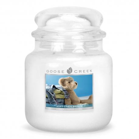 Moyenne Jarre 2 mèches SOFT LINEN BREEZE Goose Creek Candle