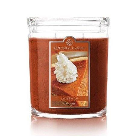 Grande jarre ovale PUMPKIN PIE Colonial Candle Difmu