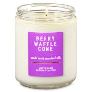 Bougie moyenne BERRY WAFFLE CONE Bath and Body Works Difmu