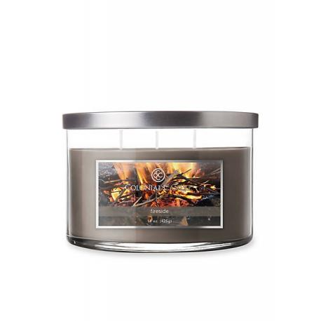 Bougie 3 mèches FIRESIDE Colonial Candle