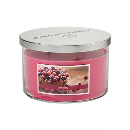 Bougie 3 mèches WILD CRANBERRY Colonial Candle