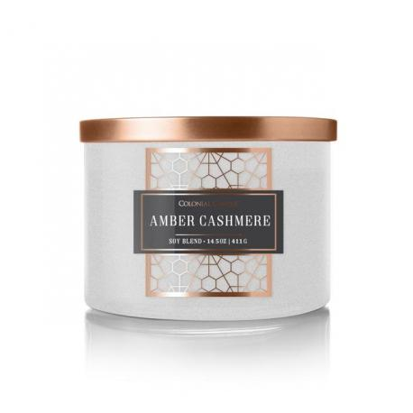 Bougie 3 mèches AMBER CASHMERE Colonial Candle