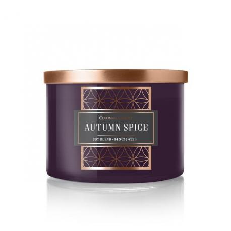 Bougie 3 mèches AUTUMN SPICE Colonial Candle