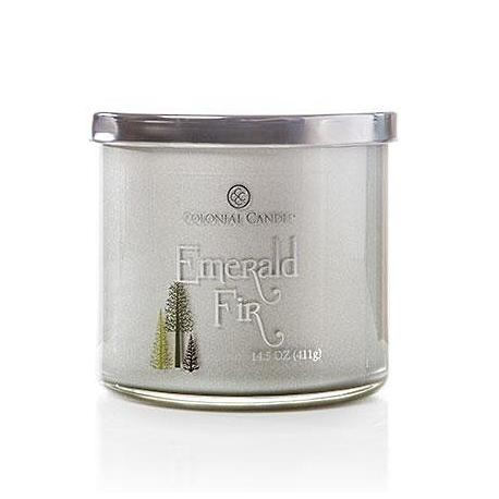 Bougie 3 mèches EMERALD FIR Colonial Candle